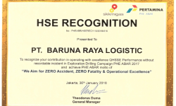 Awards HSE Recognition from Pertamina PHE ABAR 2018 brl cert 2018 phe abar hse recognition